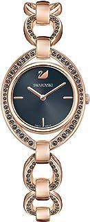 Swarovski Stella Watch - Metal Bracelet - Dark Gray - Rose Gold Tone - 5376806