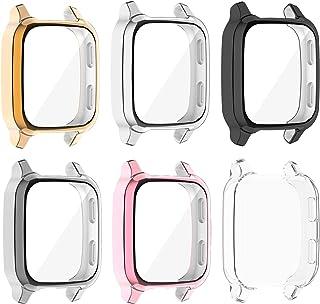 Tencloud Hoesjes compatibel met Garmin Venu Sq Case, Screen Protector Film All-around Plated beschermhoes Watch Cover Bump...
