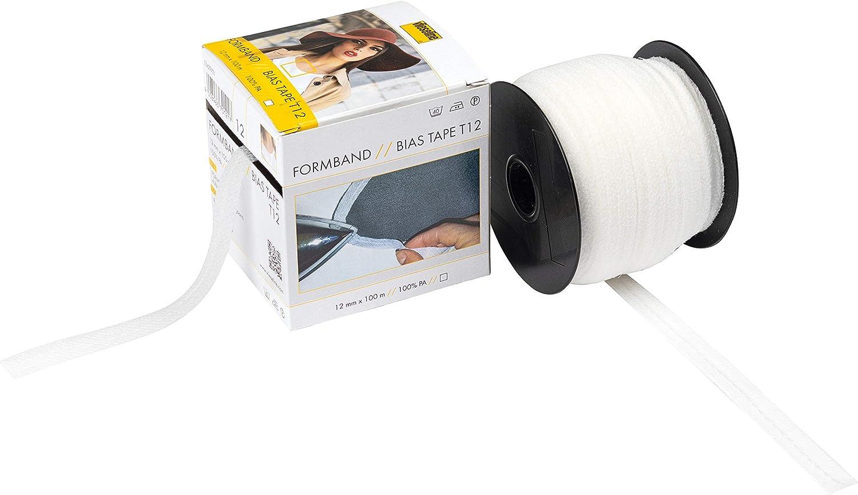 Vilene Medium Weight, Bias Cut Fusible Tape 12mm x 100m Full Roll