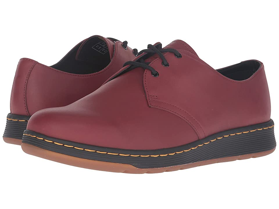 Dr. Martens Cavendish 3-Eye Shoe (Cherry Red Temperley) Lace up casual Shoes