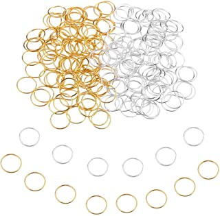 200 PCS Hair Braid Rings Accessories Clips for Women and Girls Dreadlocks Set Color Gold and Sliver