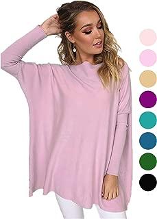 LIYOHON Women's Oversized T-Shirt Round Neck Long Sleeve Loose Casual Tunic Tops Women