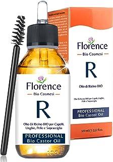 Castor Olie Florence (Ricinusolie) Puur 100ml - zacht gezeefd voor eenvoudige toepassing - Castor Oil natuurlijk serum voo...