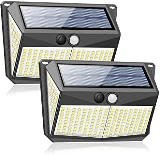 228LED Solar Lights, Outdoor Wireless Double Solar Motion Sensor Lights with 270 Degrees Sensor Angle, IP65 Waterproof Sol...