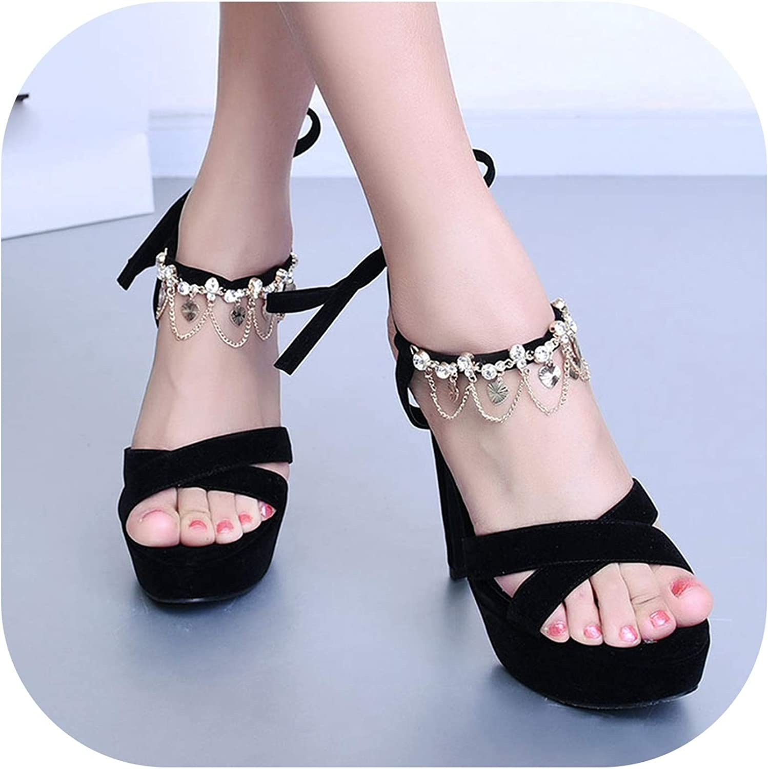 Sexy Women shoes Open Toe Lace up Heels Sandals Woman Sandals Thin Heels shoes