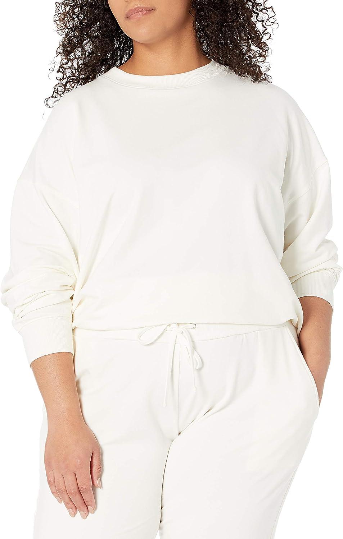 The Drop Women's Margot Loose Long Sleeve Crewneck Drop Shoulder Sweatshirt