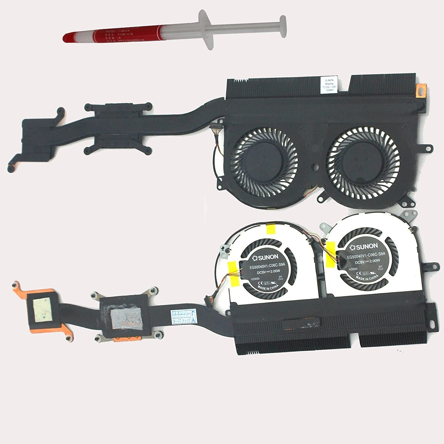 Gametown Laptop CPU Cooling Fan & Heatsink For Lenovo IdeaPad Yoga 13 Series Replacement Part Number EG50040V1-C06C-S9A
