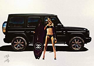 STAR DESIGN POSTERS #wb133 A2サイズ 【キャンバスポスター】 A2 (420×594mm) #welcome_boy_2nd 車 スポーツ ブランド シリーズ