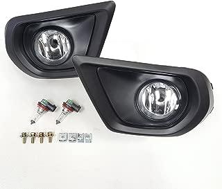 LEDIN For 2014 2015 2016 Subaru Forester 2.5i Clear Fog Driving Lights Kit w/Bezel Bulbs