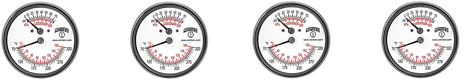 Max supreme 71% OFF Winters TTD Series Steel Dual with Tridicator Scale Thermometer