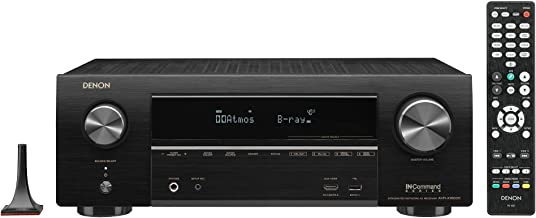 Denon AVR-X1600H 4K UHD AV Receiver, 2019 Model, 7.2 Channel, 80W Each, 3D Audio, New Dolby Atmos Height Virtualization, 6 HDMI Inputs and 1 Output with eARC Support, AirPlay 2, Alexa & HEOS