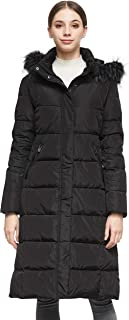 Orolay Women's Puffer Down Coat with Faux Fur Hood