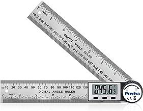Winkelmesser, Preciva Digitaler Winkelmesser mit Bildschirm HOLD - und 180° drehbar Funktion, 400mm Winkelschmiege Lineal aus Edelstahl für Holzarbeiten, Heimarbeit - größes Display