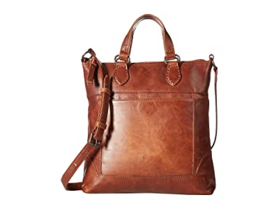 Frye Melissa Small Tote Crossbody (Cognac Antique Pull Up) Cross Body Handbags
