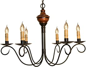 product image for Washington Wood Chandelier - Pumpkin Spice - Handcrafted in USA