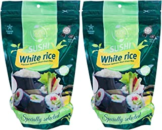 White Sushi Rice, Premium Japanese Short Grain Rice, Specially Selected, Kosher Certified, 16 Oz (2-Pack, T...