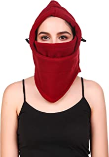 Cali Republic Women Girls Fleece Balaclava Headband and Snood Combo Pack - Winter Outdoor Face Mask Neck Cover Headband For Outdoor Sports | Protection Extreme Cold Temperatures