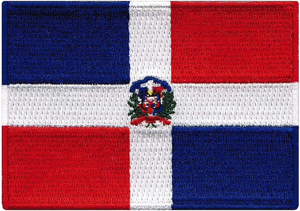 Dominican Max 49% OFF Japan Maker New Republic Flag Embroidered Nati Iron-On Patch Caribbean