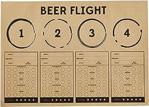 SB Design Studio Sips Recyclable Brown Kraft Paper Party Placemats, 24-Count, Beer Flight