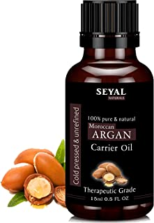 Seyal Moroccan Argan Oil 100% Pure & Natural Therapeutic Grade Organic, Cold Pressed For Hair, Skin & Face (15ml)