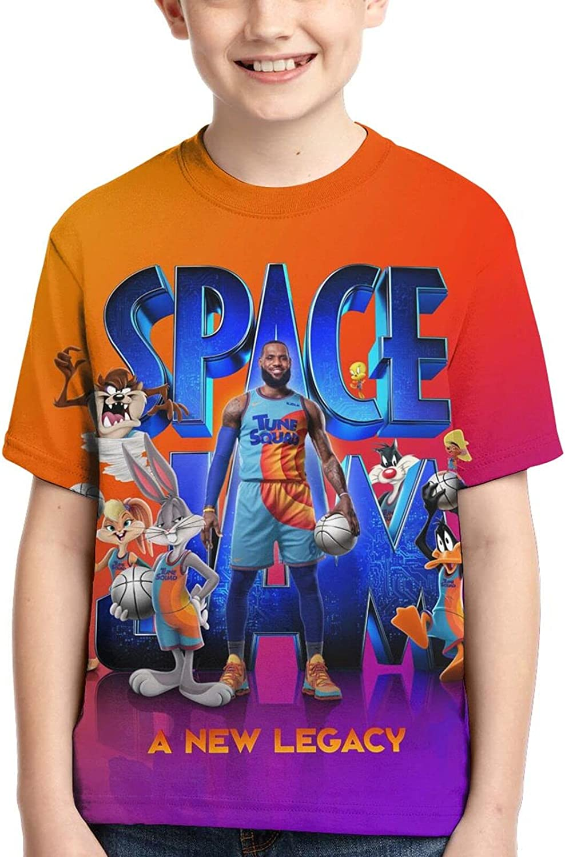 JVUQHLA Boy's Shirt, 3D Print T-Shirt, Kids Short Sleeves, Breathable Soft Short Sleeve, Summer T-Shirts