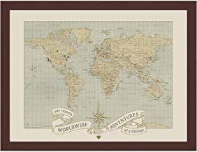 Dreams & Memories Custom World Push Pin Travel Map …