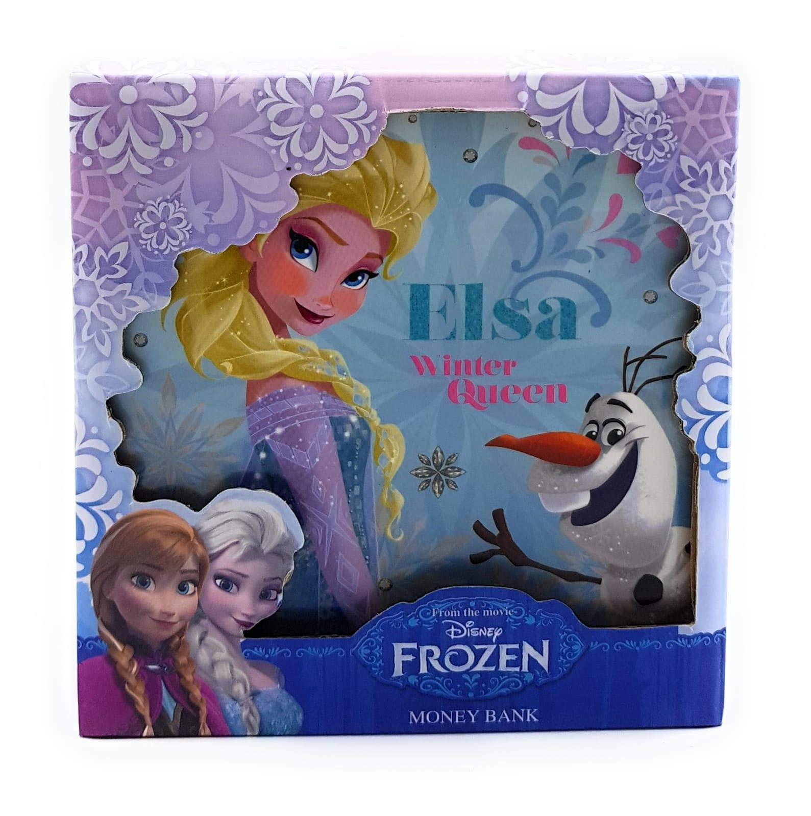 Hucha de Frozen de Disney con Caja de Regalo, diseño de Elsa ...