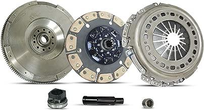 Clutch And Flywheel Kit works with Forod F-250 F-350 F-450 F-550 Xl Xlt Lariat King Ranch Harley-Davidson Cabela's Base Fx4 2003-2010 6.0L V8 6.4L V8 Diesel OHV Turbocharged (Ceramic Clutch Disc)