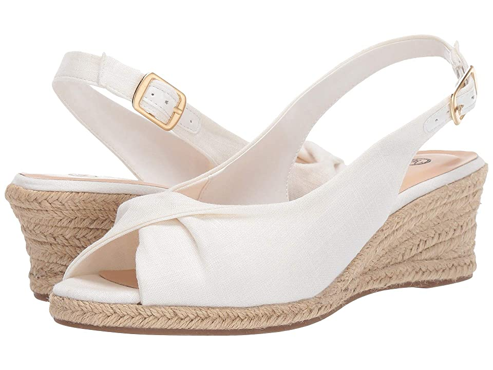 Pin Up Shoes- Heels, Pumps & Flats Bella-Vita Sylvie II White Linen Womens Shoes $79.95 AT vintagedancer.com