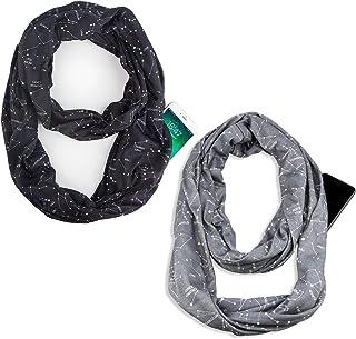 Infinity & Soft Scarf with Hidden Zipper Pocket Bundle Set Travel Accessories for Women Girls Ladies