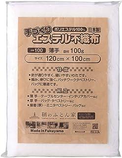 キルト芯 幅広 薄手 日本製 120㎝×100㎝ ドミット タイプ SCQ100