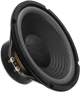 MONACOR SP 202E Hi Fi Tiefmitteltöner, kompaktes Bass Chassis in voller Zweiwege Tauglichkeit bietet ausgezeichnete Klangqualität, Speaker für den Selbsteinbau, in Schwarz
