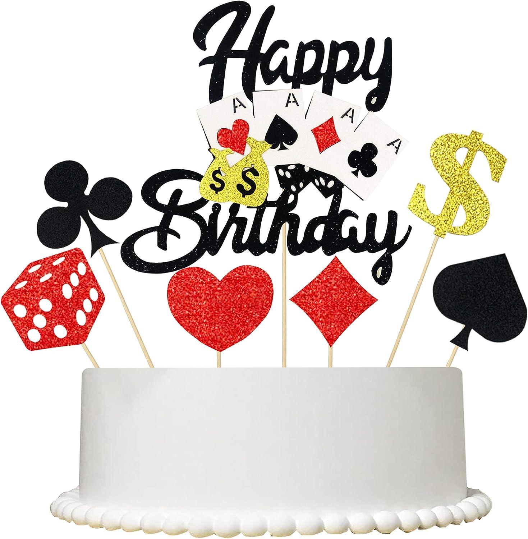 7PCS half Casino Cake Topper Includes Poker an Max 53% OFF 1PCS