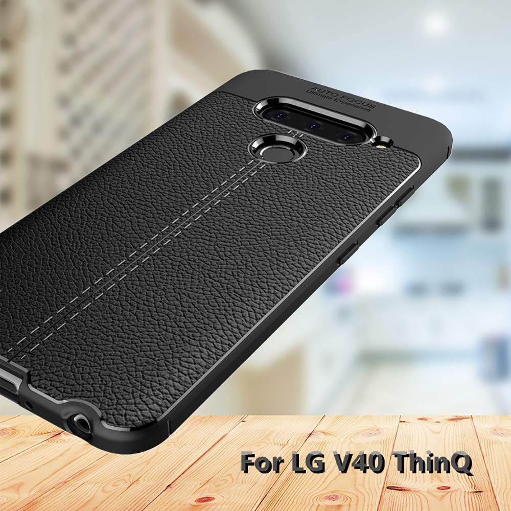 QULLOO LG V40 / LG V40 ThinQ Funda Cover, Anti-rasca la Carcasa ...