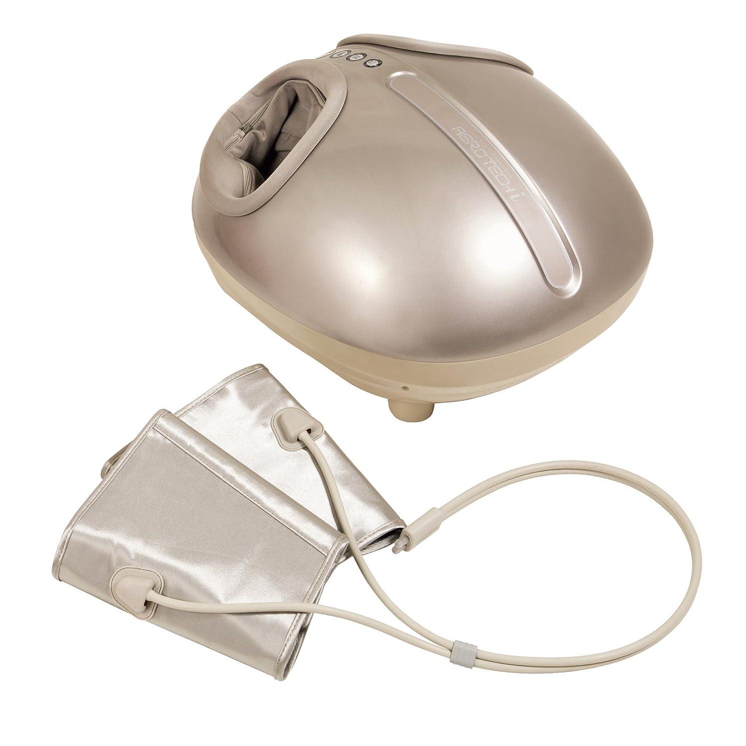 姿勢突破口卵ツカモトエイム ポルト エアーフットマッサージャー  エアロテックアイ ヒーター機能搭載 (シャンパンゴールド) AIM-012(CG)
