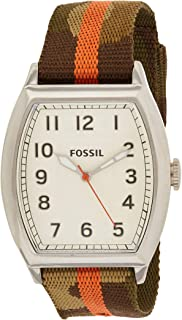 Fossil Mens Quartz Watch, Analog Display and Textile Strap FS4914