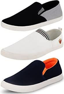 Ethics Perfect Combo Pack of 3 Loafer Shoes for Men