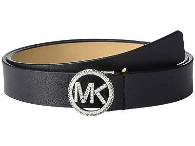 MICHAEL Michael Kors 25 mm Pave Logo Belt (Black) Women