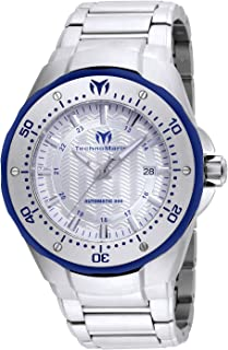 Technomarine Men's Manta Automatic-self-Wind Watch with Stainless-Steel Strap, Silver, 28 (Model: TM-215092)