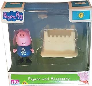 PeppaWutz Figuras del Juego Peppa Pig, Diferentes Personajes y Accesorios (Schorsch Wutz)