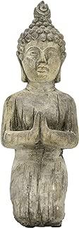 Three Hands Kneeling Buddha Asian Figurines Gray