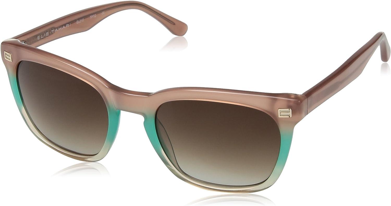 Elie Tahari Women's EL215 TPTQ Rectangular Sunglasses