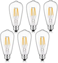 Medusa Vintage Edison LED Bulb 4W ST64 Antique LED Bulb Squirrel Cage Filament Light For Decorate Home, E27 3000K, Warm Wh...