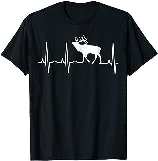 Elk Heartbeat Shirt - Best Elk Lover T-Shirt Men Women Kids