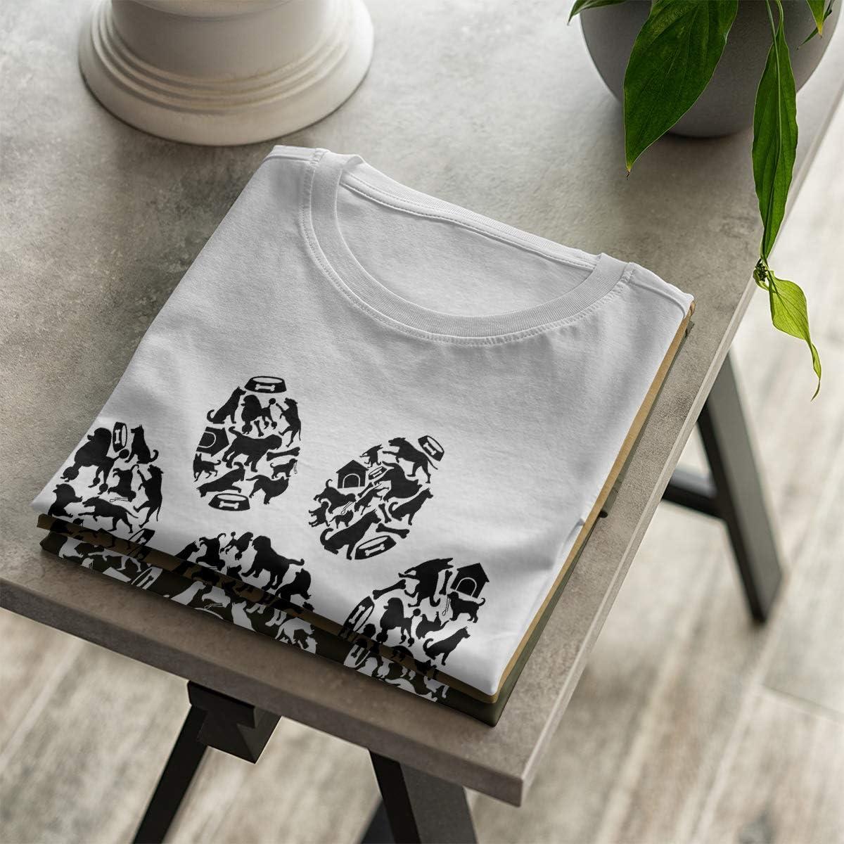 Hundepfote Verschiedene Hunde Rassen XXL S Damen OM3/® Dog Paws T-Shirt