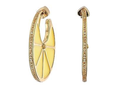 Kate Spade New York Tutti Fruity Lemon Hoops Earrings (Yellow) Earring