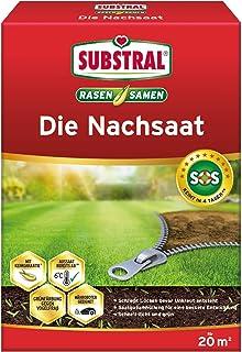 Substral Graszaad, voor nazaaien en nazaaien, uniek premium grasreparatie-mengsel met turbo-kieming, 1 kg voor 50 m2 400 g...