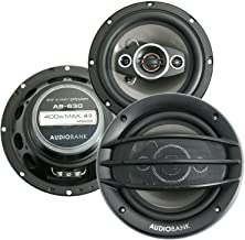 $26 » 2X Audiobank AB-630 400 Watts Power Handling 6.5-Inches 4-Way Car Audio Stereo Coaxial Speakers with Frequency Response: 6...