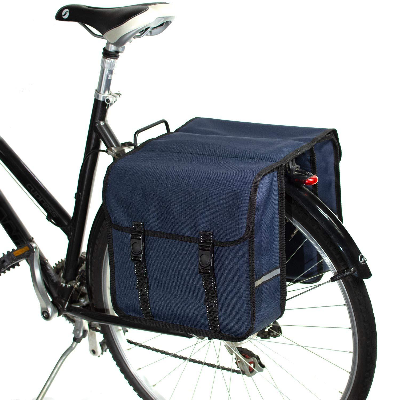 BikyBag-Beluko Clásica Doble Alforjas Bolsa para Bicicleta (Azul Marino): Amazon.es: Deportes y aire libre