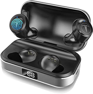 $39 Get Bluetooth Headphones,TAGRY 5.0 True Wireless Earbuds Deep Bass HiFi Stereo Sound 30H Playtime Bluetooth Earphones in Ear Binaural Call Headset with Charging Case and Built in Mic for Sports Running